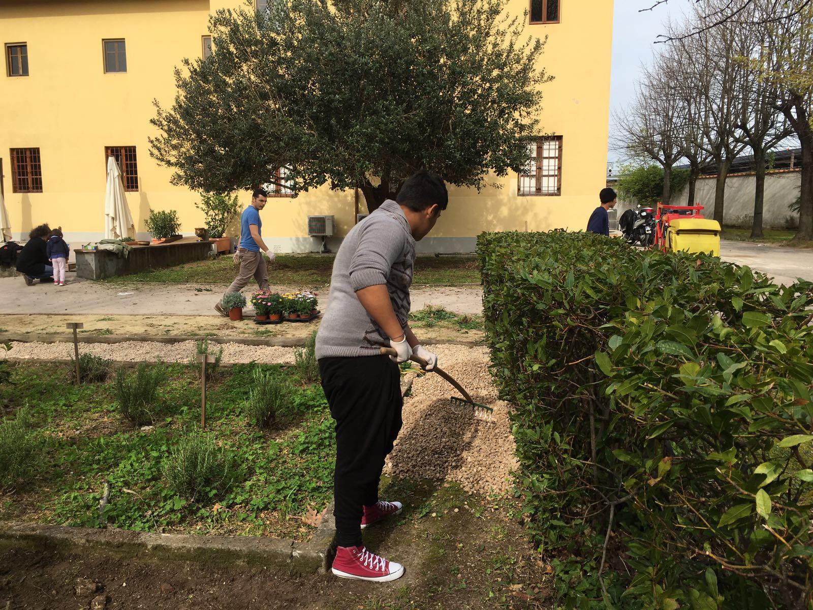 Al lavoro per sistemare il giardino dei cappuccini - Sistemare il giardino ...